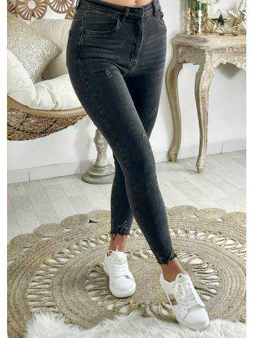 """Mon Jeans taille haute """"grey & used"""""""