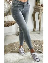 """Mon Jeans gris """"Basic Push-up"""""""