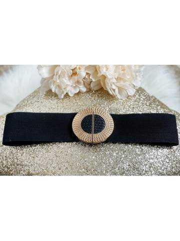 """Jolie ceinture élastique """"boucle ronde Gold"""""""