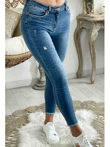 Mon Jeans taille moyenne medium blue basic & used