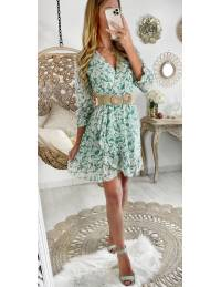 """Ma robe cache coeur """"vert d'eau & wild flowers"""""""