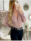 Ma jolie blouse boutonnée fleurie rose blush