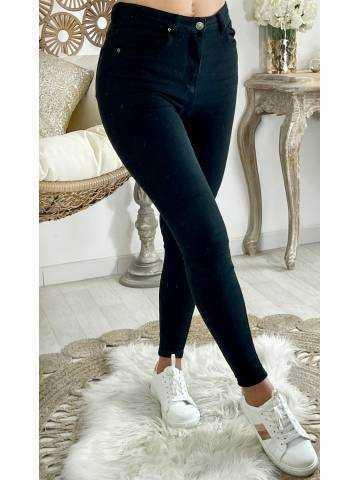 Mon jeans noir taille haute basic