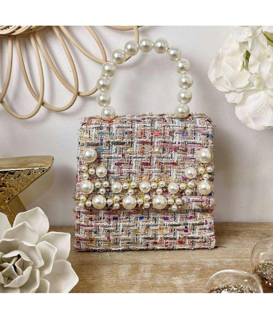 Joli petit sac tweed & pearls