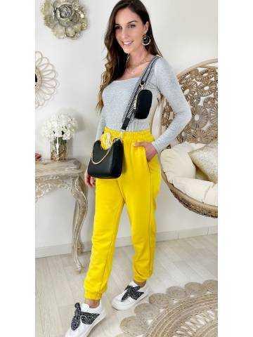 Mon pantalon style jogging yellow