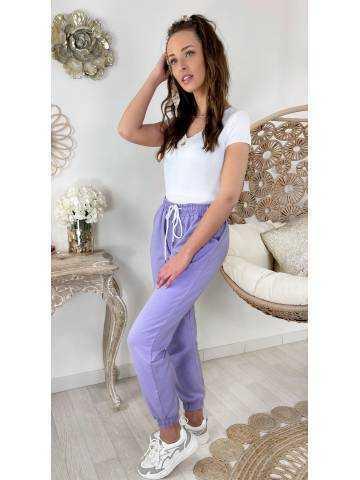Mon pantalon style jogging lila