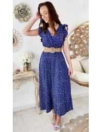 """Jolie robe longue cache coeur """" blue flowers"""""""