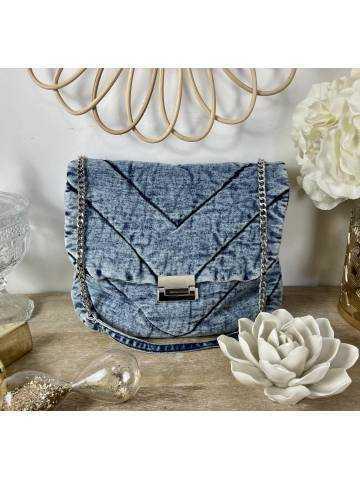 Petit sac style jeans bleu délavé