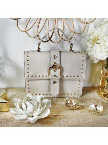 Mon sac style valisette beige nude style daim & gold