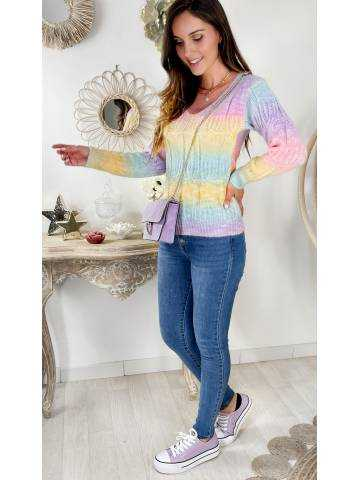 "Joli pull col v ""so color"""