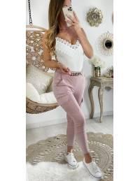 """Mon pantalon souple pink """"cargo & chain"""""""
