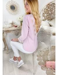 """Ma jolie blouse rose pâle """"dos dentelle"""""""