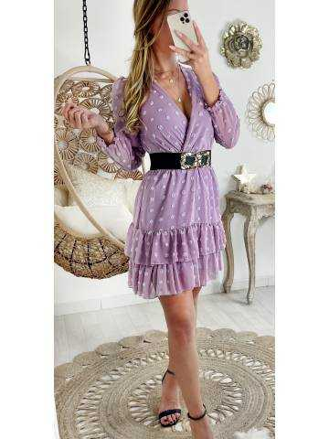 "Ma petite robe Lila ""jolis pois et volants"""