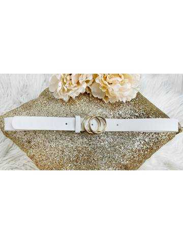 ma ceinture à boucle White & Gold