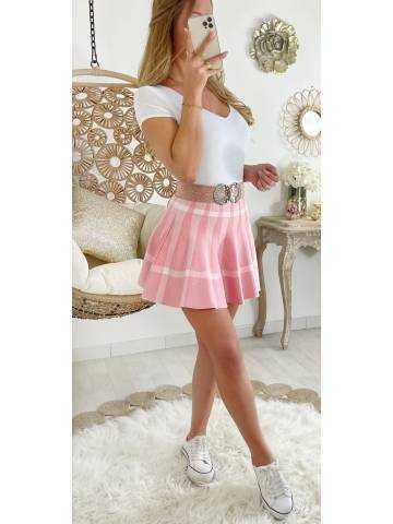 """Ma jupe en maille Pink  """" imprimé Carreaux"""""""
