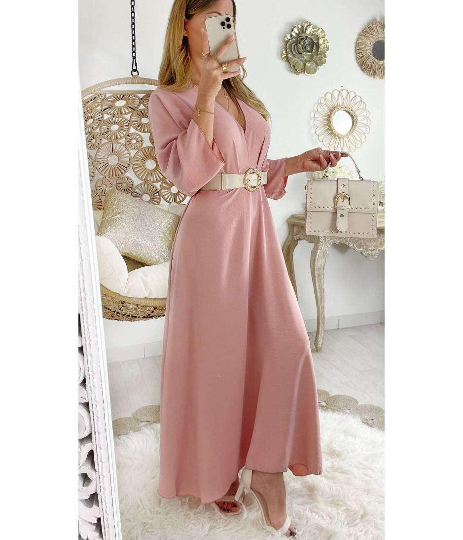 Ma superbe robe longue et ample rose pale