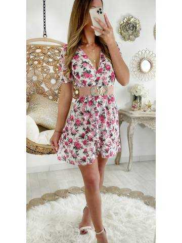 Ma petite robe cache coeur & Pink flowers
