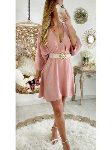 Ma superbe robe et ample rose pale