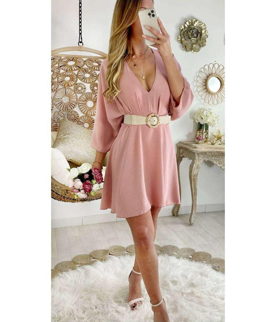 Ma superbe robe et ample rose pale