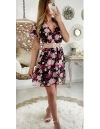"Ma jolie robe black cache coeur ""pink roses"""