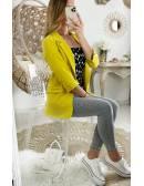 """Ma veste légère jaune """"manches 3/4"""""""