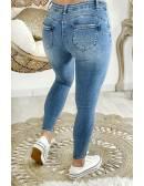 """Mon Jeans taille bleu clair """"destroy & push up"""""""