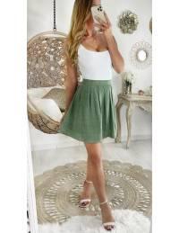Ma jolie jupe vert clair et pois blancs