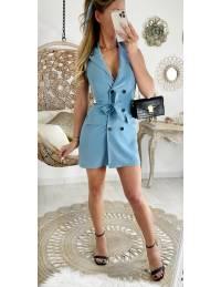 Ma jolie robe blazer sans manches bleue