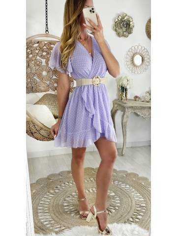 Ma jolie robe Lila cache cœur et plumetis