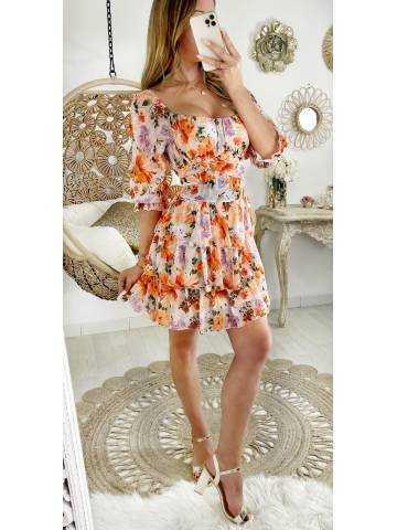"Ma robe à volants ""Juicy flowers"""