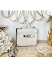 Mini sac Cream & Silver chain
