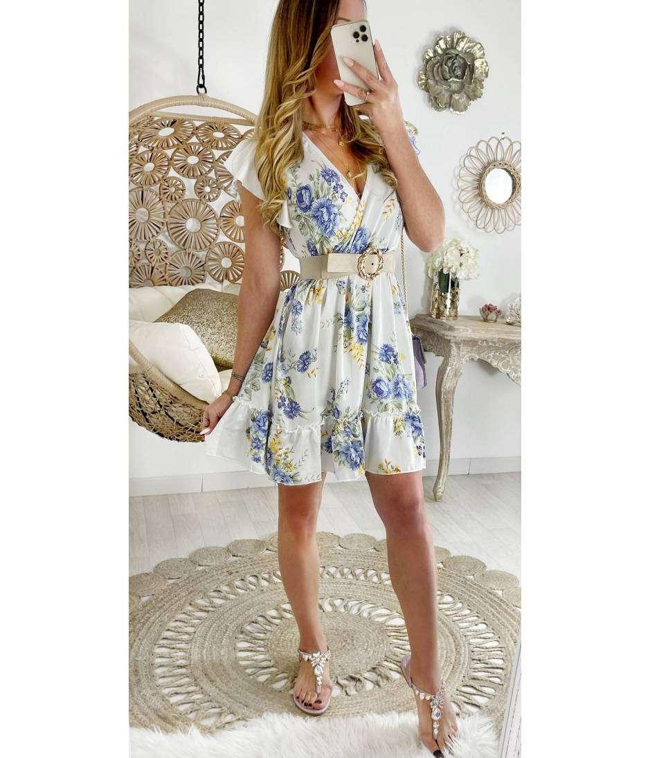 """Ma petite robe satinée """"Juicy flowers"""""""