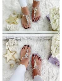 "Mes sandales ""so diamond lila"""