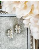 Jolies Boucles d'oreilles Pearls & Diam's