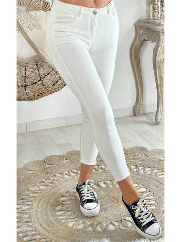 Mon jeans blanc basic & cropped