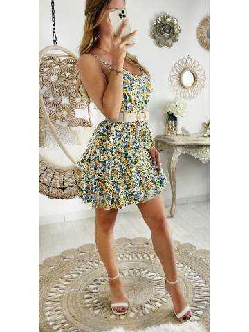 Ma jolie robe à volants petites fleurs colorées
