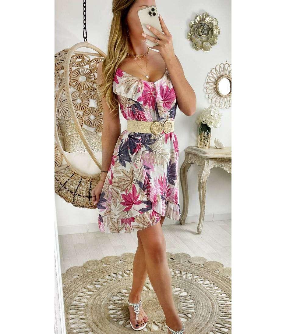 "Ma petite robe voilage ""pink & leaf"""