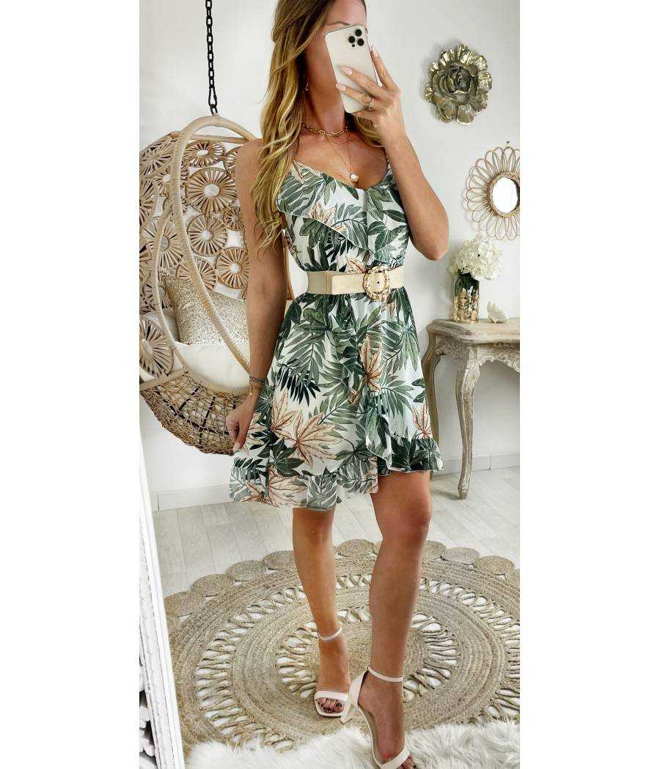 "Ma petite robe voilage ""kaki & leaf"""
