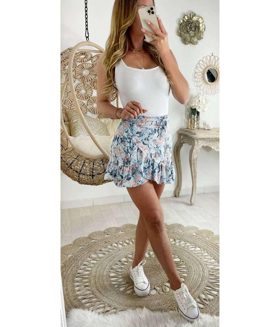 Ma jolie jupe porte feuille spring flowers et volants