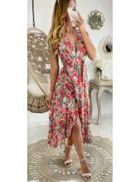 "Ma robe longue cache coeur ""punchy flowers"""