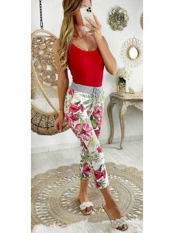 "Mon pantalon style jogging ""sweety flowers"""