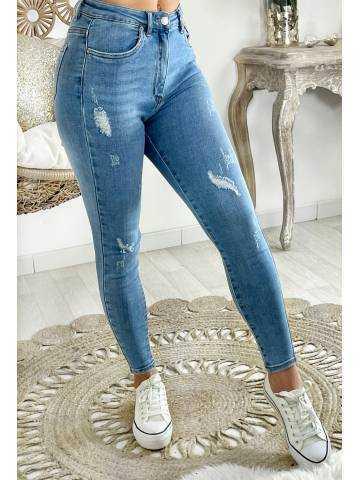 "Mon Jeans taille haute ""light blue & used"" II"