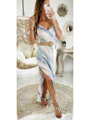 "Ma jolie robe longue  ""tie & dye ""dos croisé"""