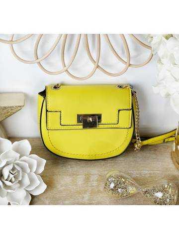 Mon joli sac jaune à lanière