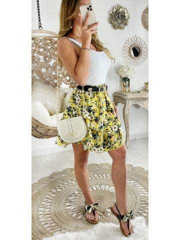 Ma jolie jupe volants jaune et jolis fleurs