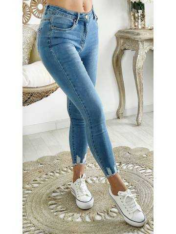 "Mon Jeans taille haute ""basic et bas used"""