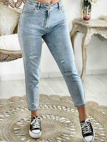 Mon jeans mum & bleached