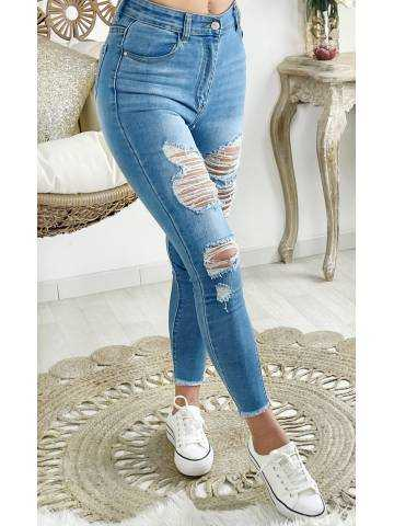 """Mon Jeans light blue """"maxi destroy"""""""