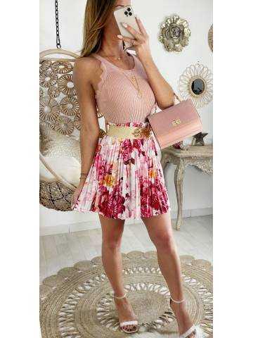 "Ma jolie Jupe plissée pink ""wild flowers"""