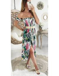 """Ma robe longue bustier """"plumes & colors"""""""